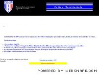Le site de la police territoriale